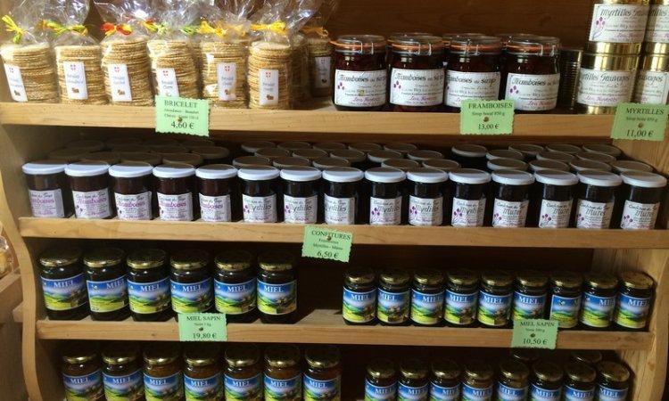 Miel et confiture savoyardsLugrin - Le Temple Du Fromageà Lugrin : Boutique de vente de produits savoyards